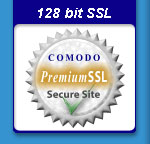 128 bit SSL secured shopping